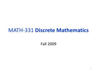 MATH-331  Discrete Mathematics