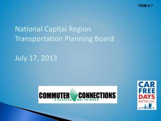 National Capital Region Transportation Planning Board July 17, 2013