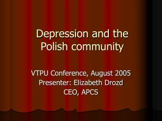 Depression and the  Polish community