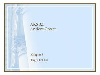 AKS 32: Ancient Greece