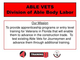ABLE VETS Division of Able Body Labor