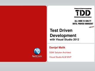 Test Driven Development  with Visual Studio 2012