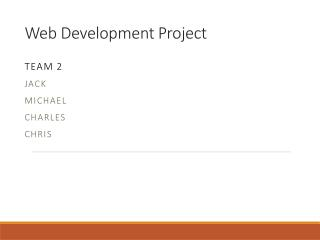 Web Development Project