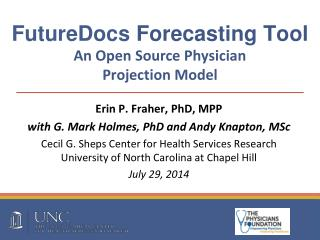FutureDocs Forecasting Tool An Open Source Physician  Projection Model