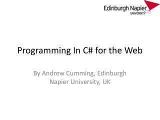 Programming In C# for the Web
