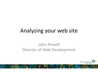 Analyzing your web site