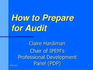 How to Prepare for Audit