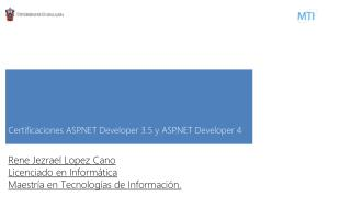 Certificaciones ASP.NET Developer 3.5 y ASP.NET Developer 4