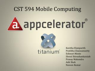 CST 594 Mobile Computing
