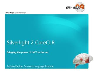 Silverlight 2 CoreCLR