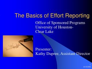 The Basics of Effort Reporting