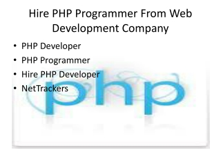 Hire Dedicated PHP Programmer