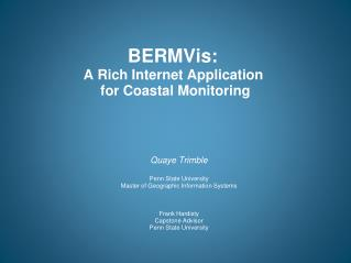 BERMVis :  A  Rich Internet Application  for  Coastal Monitoring