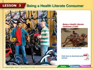 Being a Health Literate Consumer (3:04)