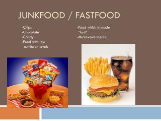 Junkfood / Fastfood