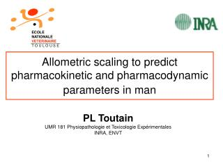 Allometric scaling to predict pharmacokinetic and pharmacodynamic parameters in man