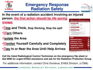 Emergency Response Radiation Safety
