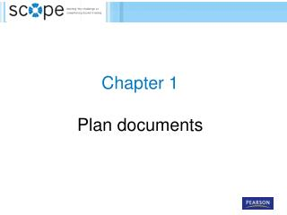 Chapter  1  Plan documents