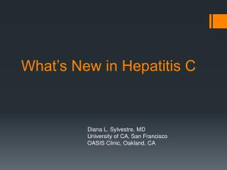 What's New in Hepatitis C
