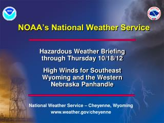 NOAA's National Weather Service