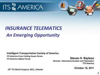 Insurance Telematics  An Emerging  Opportunity