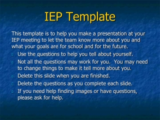 IEP Template