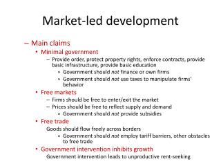 Market-led development