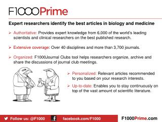 Expert researchers identify the best articles in biology and medicine