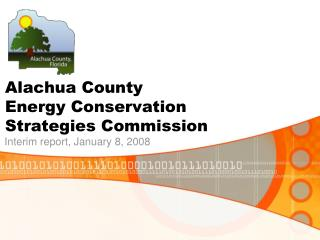 Alachua County                      Energy Conservation        Strategies Commission