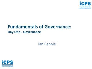 Fundamentals of Governance: Day One - Governance