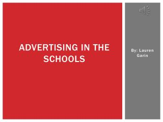 Advertising in the schools