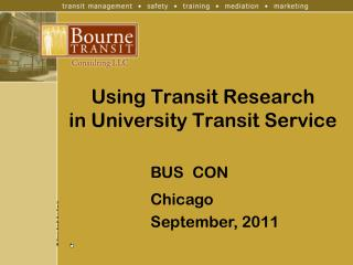 Using Transit Research in University Transit Service