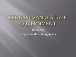 Pennsylvania State Government