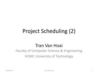 Project Scheduling (2)