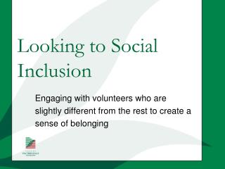 Looking to Social Inclusion