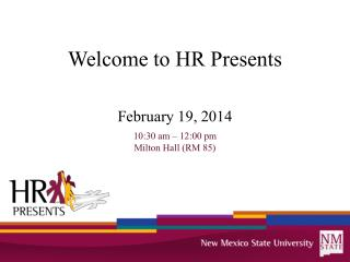 Welcome to HR Presents