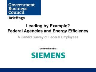 Leading by Example?  Federal Agencies and Energy Efficiency