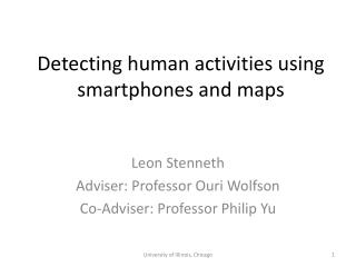 Detecting human activities using smartphones and maps