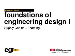 foundations of engineering design I