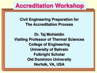 Accreditation Workshop
