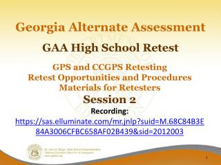 GAA High School Retest
