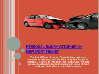 Injury Attorney New Port Richey