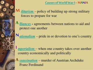 Causes of World War I  -