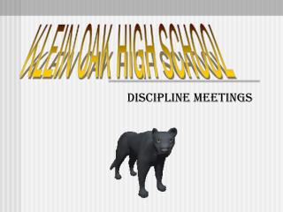 Discipline meetings