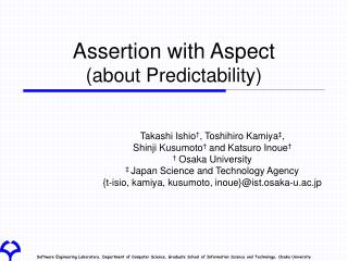Assertion with Aspect (about Predictability)
