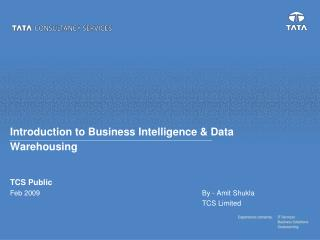 Introduction to Business Intelligence & Data Warehousing
