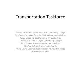 Transportation Taskforce