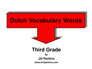 Dolch Vocabulary Words
