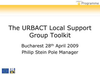 The URBACT Local Support Group Toolkit