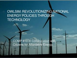 OwlSim: Revolutionizing National Energy Policies Through Technology